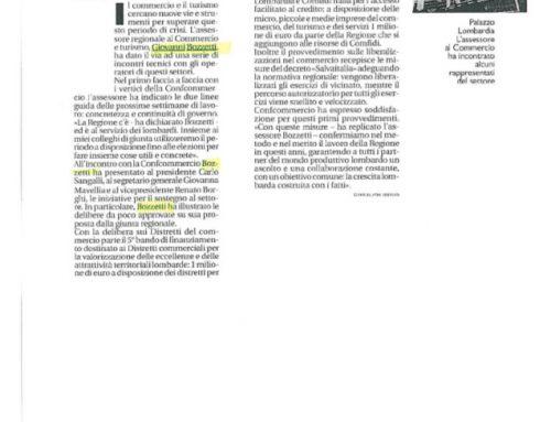 Regione Lombardia punta sul commercio