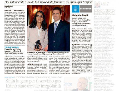 Expo 2020 a Dubai, Milano si muove