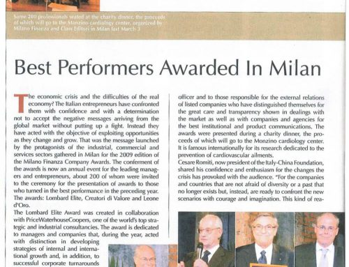 Best performers awarded in Milan