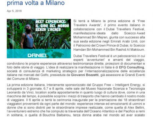Viaggi, Free Travelers Awards sbarca per la prima volta a Milano