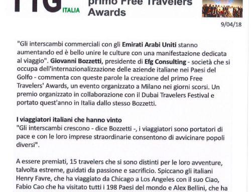 Da Dubai a Milano il primo Free Travelers Awards