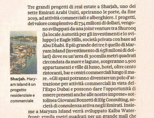 Nell'Emirato di Sharjah opportunità per il retail