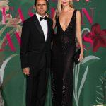 """con Ludmilla Voronkina evento """"Green Carpet Fashion Awards Italia"""" al Teatro alla Scala di Milano durante la Milano Fashion Week"""