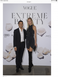 """con Ludmilla Voronkina evento """"Extreme Beauty: il party di Vogue Italia"""" presso Palazzo Serbelloni di Milano durante la Milano Fashion Week"""