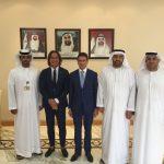 con h.e. Abdulla Ghurair, Ebraheem al Mahmood, Mohamed al Mhuahiri ADCCI (deputy DG, Deputy Chairman, DG)